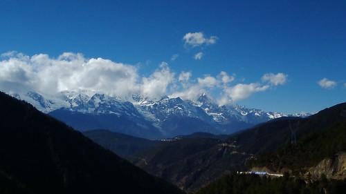 梅里雪山がきれいに見える