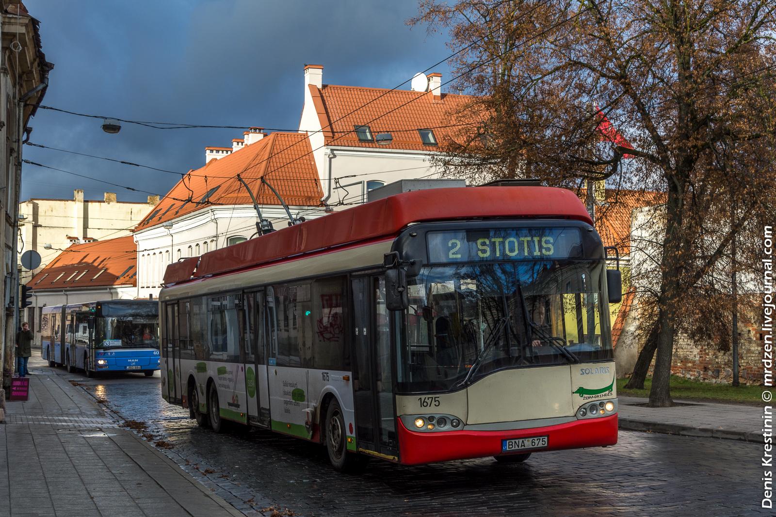 Вильнюс.Троллейбус Solaris Trollino