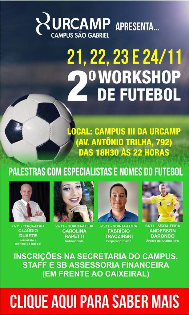 Anúncio 2º Workshop de Futebol - Urcamp São Gabriel