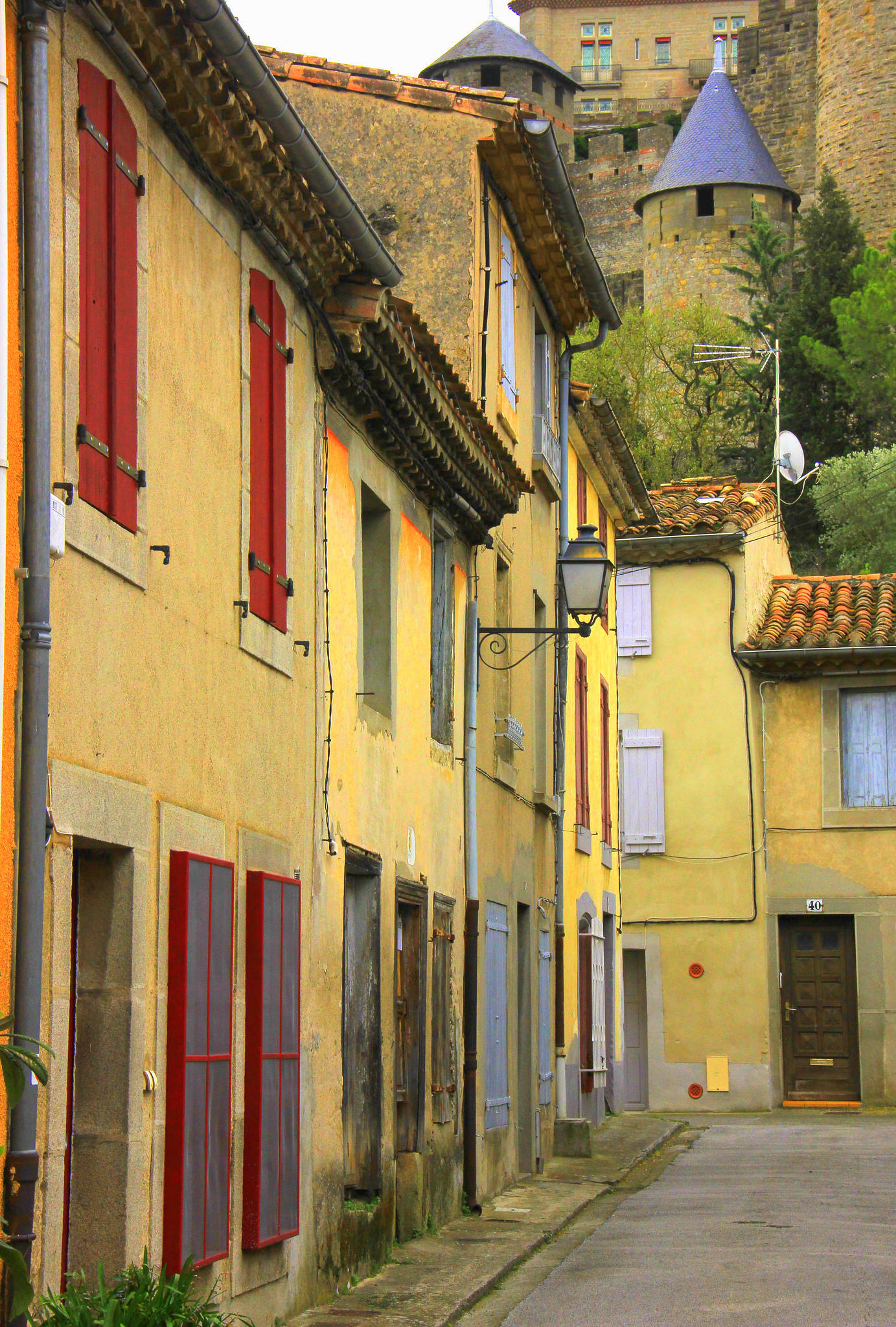 The lively little settlements at the base of Carcassonne Old Town