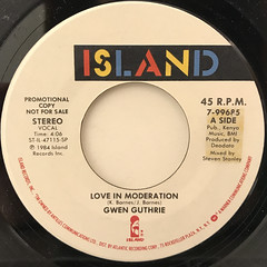 GWEN GUTHRIE:LOVE MODERATION(LABEL SIDE-A)