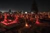 Auf dem Neugässer Friedhof in Billed an Allerheiligen