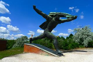 Budapest communist statue in park