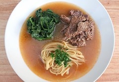 SMITHY'S BEEF RIB SOUP WITH SPINACH AND PASTA (RINDER SUPPE VON DER RIPPE, MIT SPINAT UND PASTA)