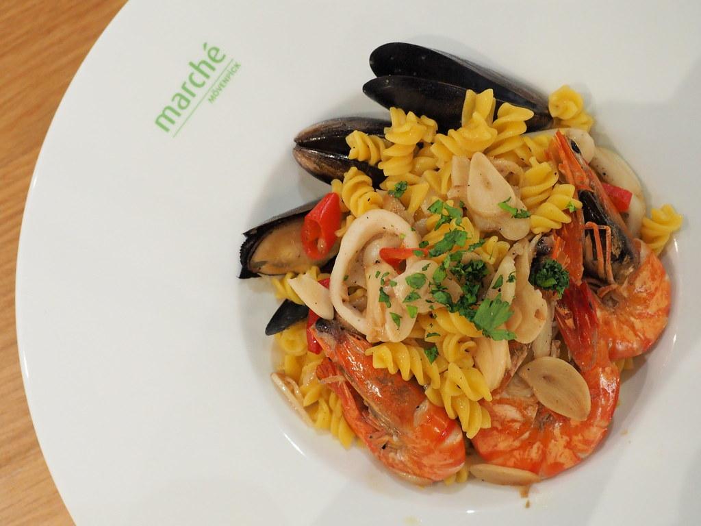 Seafood pasta at Marché Mövenpick Pavilion