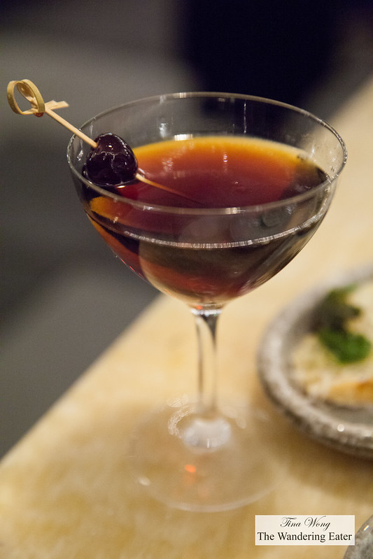 Root Beer Manhattan - Rittenhouse Rye, Averna Amaro, Cinzano 1757 Sweet Vermouth, Galliano,Fee Brothers cardamom bitters