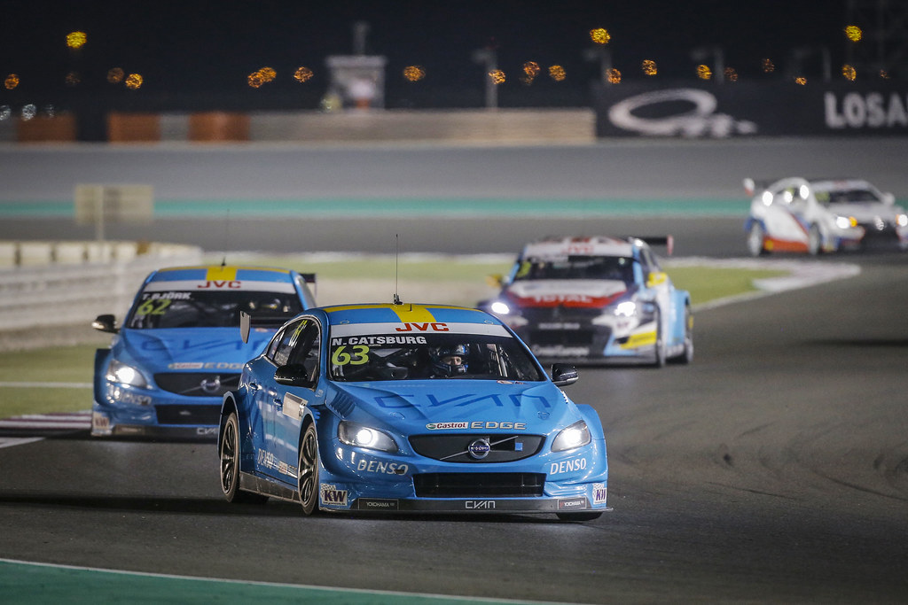 63 CATSBURG Nicky, (ned), Volvo S60 Polestar team Polestar Cyan Racing, action during the 2017 FIA WTCC World Touring Car Championship race at Losail  from November 29 to december 01, Qatar - Photo Francois Flamand / DPPI