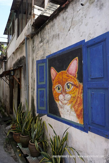 Cat from the Window Penang Street Art