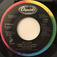 SLY FOX:LET'S GO ALL THE WAY(LABEL SIDE-B)