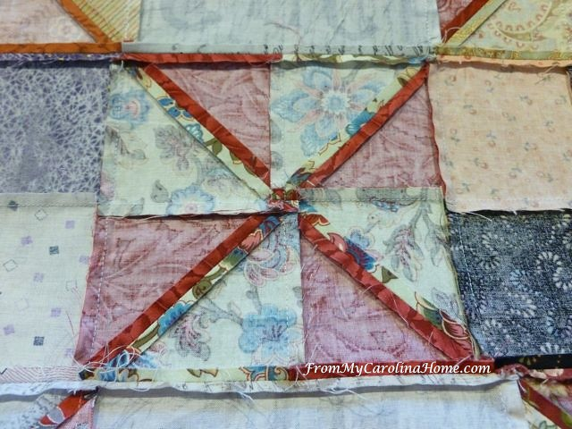 Pinwheel Quilt at From My Carolina Home