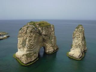 Beirut, Taubenfelsen (Pigeon Rocks)