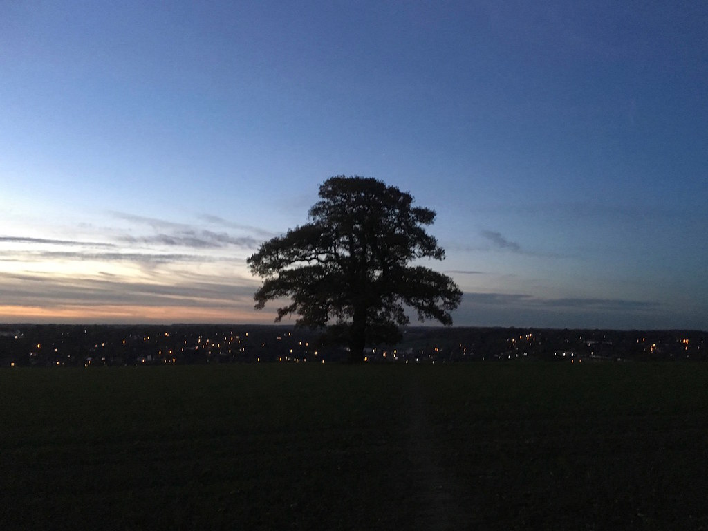 Winter sunset, Chesham Chorleywood to Chesham walk