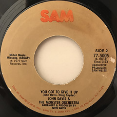 JOHN DAVIS & THE MONSTER ORCHESTRA:UP JUMPED THE DEVIL(LABEL SIDE-B)