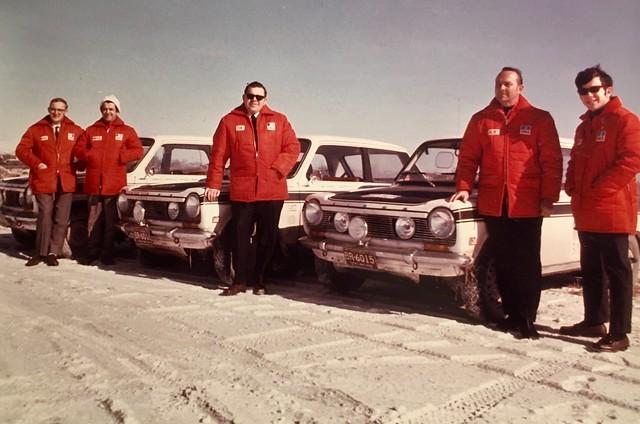 Canadian Winter Rally 1969 Simca Team