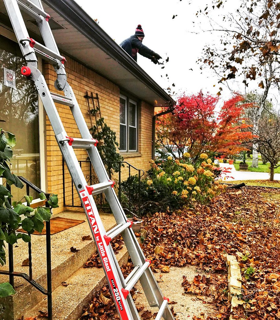 does your girlfriend climb up to your roof to clean and *scrape* out 9 years of leaves from your gutters? no? well.. mine did. I think I'll keep her. 😁 (and not *just* because she cleaned my gutters... obvi. but it sure added quite a bit of points to