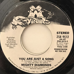 MIGHTY DIAMONDS:YOU ARE JUST A SONG(LABEL SIDE-A)