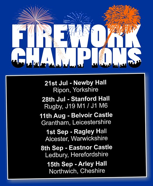 Firework Champions Dates 2018