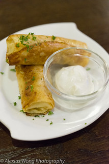 Chicken Blintzes, Golden Samovar, Rockville, MD
