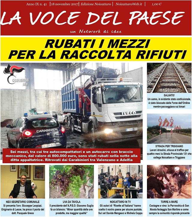 Noicattaro. Prima pagina n. 41-2017 intero