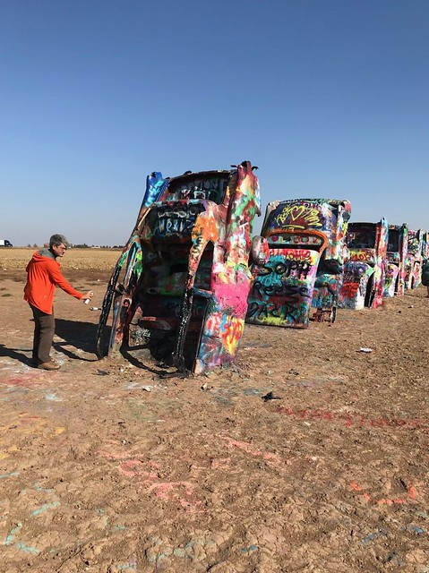 Amarillo Cadilac Ranch Pierre spraypaint