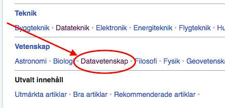 Svensk Wikipedia - Slumpartiklar - Datavetenskab