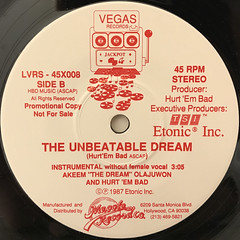 AKEEM THE DREAM:THE UNBEATABLE DREAM(LABEL SIDE-B)