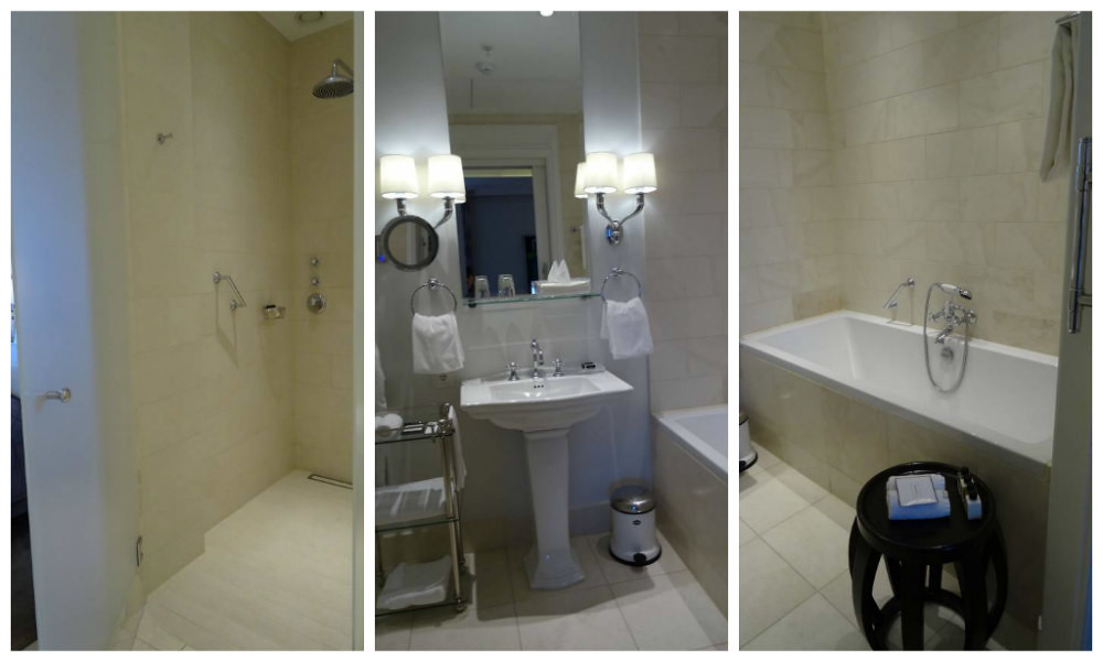 Deluxe Suite Bathroom at Hotel D'Angleterre