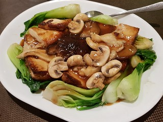 Tofu and Combination Mushroom at Pu Kwong