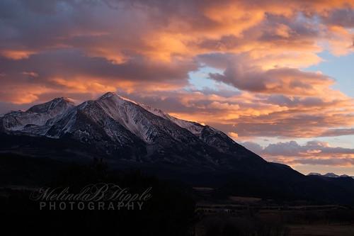 sky skies cloud clouds skyscape sunset landscape mountain rockies colorado carbondale mountsopris