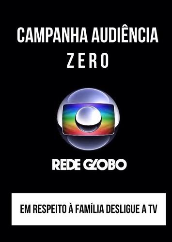 CAMPANHA AUDIÊNCIA ZERO #REDEGLOBOLIXO