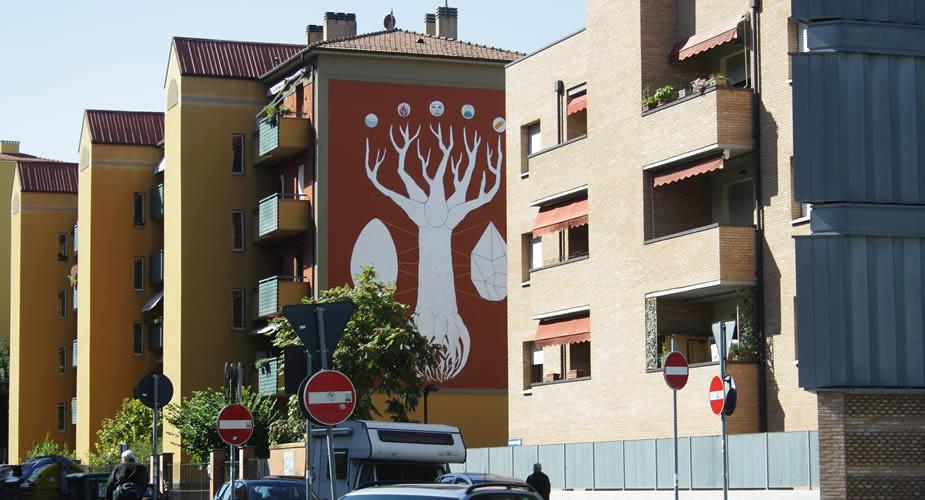 Street art in Bologna: Andreco | Mooistestedentrips.nl