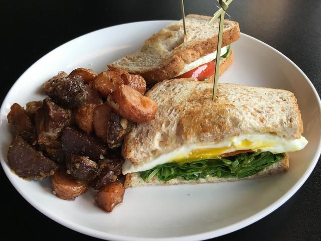 Truffled egg sandwich - Railgarten Diner