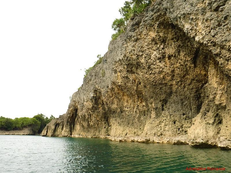 Ragged sea cliffs
