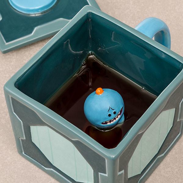 遇到麻煩嗎?讓米西先生來幫助你!! ThinkGeek《瑞克和莫蒂》米西盒馬克杯 Rick and Morty Mr. Meeseeks Molded Mug