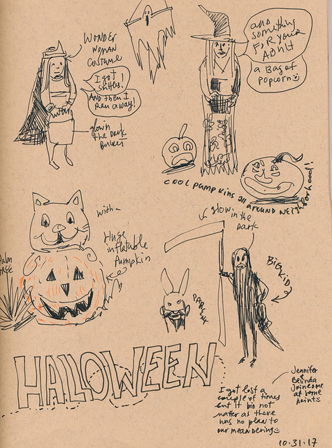 Sketchbook #109: My Halloween Sketches :)