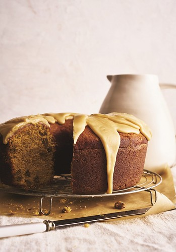 Recipe for Sweet Potato Pound Cake with Maple Syrup Glaze from Ken Haedrich's Harvest Baker