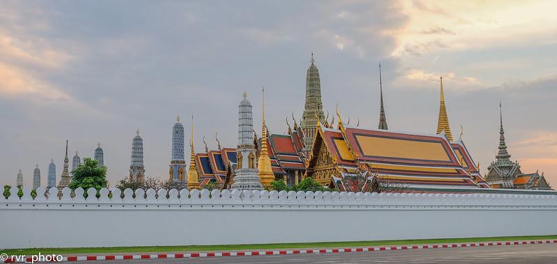Puesta de Sol en Palacio Real de Bangkok