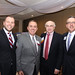 Current and former State Representatives for the 68th district - State Rep. Joe Polletta (R-68), State Senator, Eric Berthel, Jack Traver Sr. of Traver IDC in Waterbury and Brian Flaherty, senior vice president for public policy with CBIA -  posed for a photo during the 53rd Annual Watertown Oakville Chamber of Commerce Dinner and Awards Evening on Wednesday, November 8th at the Grand Oak Villa.
