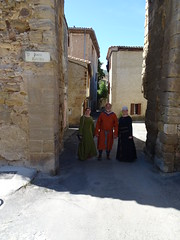 Merchant with ladies in Alet les Bains