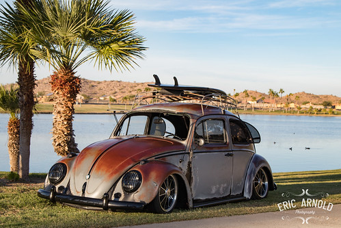 vw volkswagen bug beetle patina rust rusty low lowered car auto automotive safari window popout lake estrella goodyear az arizona palmtree palm canon 80d canon80d photoshoot