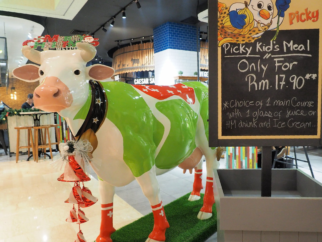 The cow the mascot of Marché Mövenpick