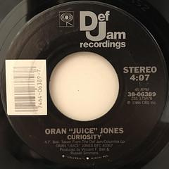 ORAN JUICE JONES:CURIOSITY(LABEL SIDE-A)