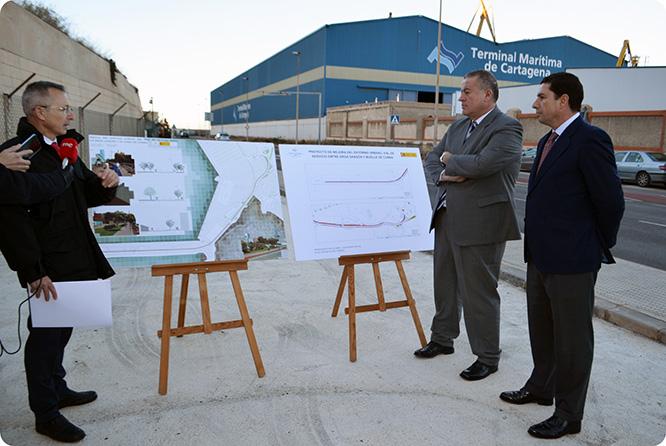 Un millón de euros para mejorar el vial que une Cartagena con el muelle de La Curra