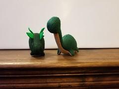 Felt Dinosaurs set #1 - Greens/Tan
