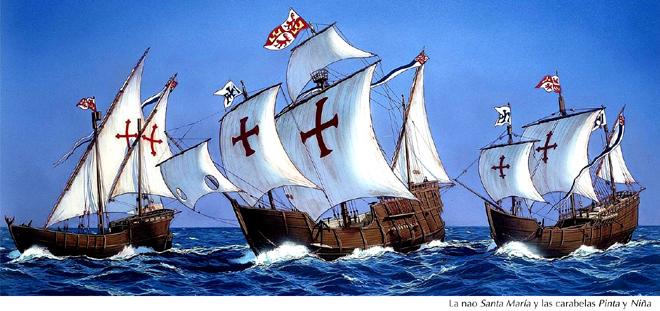 Colón, tres naves