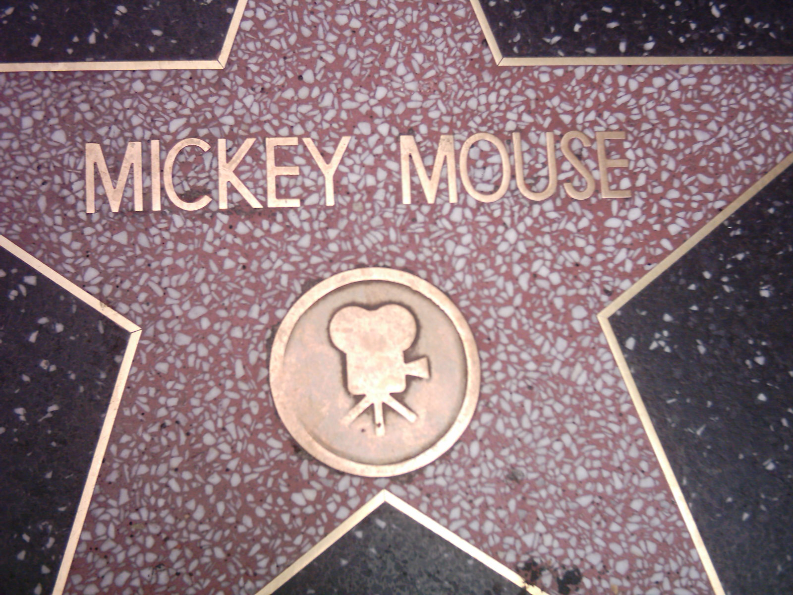 Mickey Mouse star on the Hollywood Walk of Fame