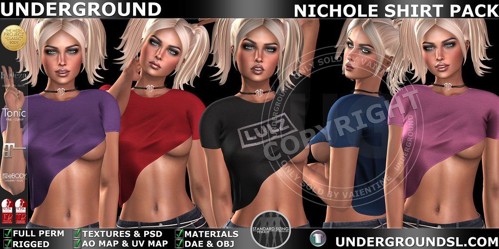 UG MESH NICHOLE SHIRT PACK MP