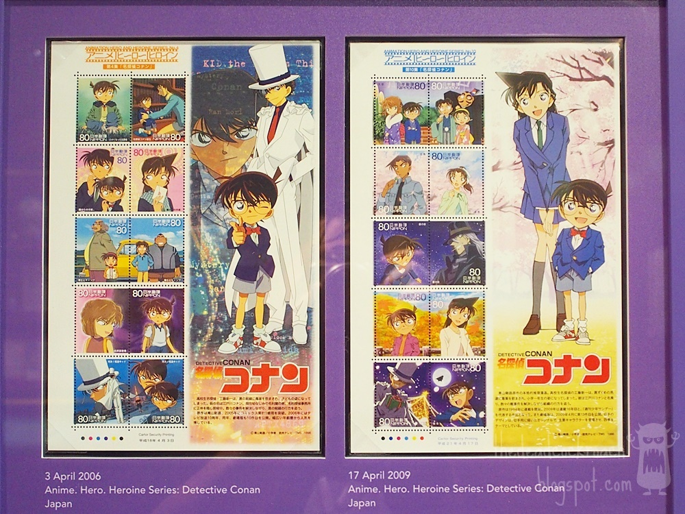 anime, astro boy, chibi maruko-chan, conan, detective conan, doraemon, museum, naruto, philatelic museum, rantarou, singapore, singapore philatelic museum, stamps, studio ghibli, where to go in singapore, japan, japanese animation, stamps,detective conan