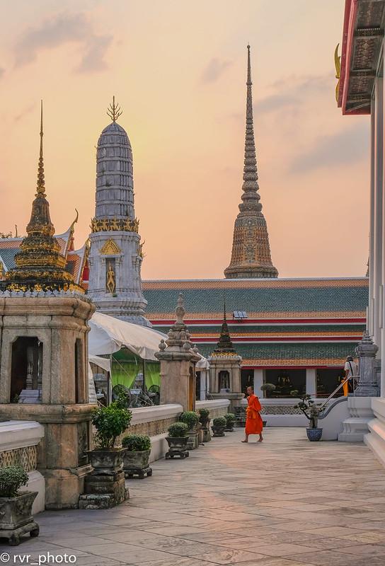 Puesta de Sol en Templo Wat Pho, Bangkok