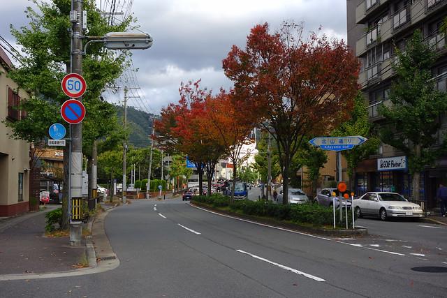 2017/11 松ヶ崎北山通のレトロビーバー辺り